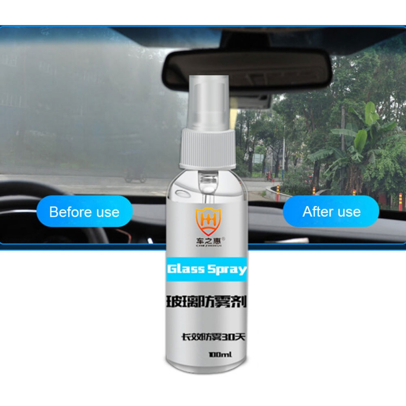 100ML Car Anti Fog Spray Eyeglass Lens Cleaner Windshield Mirror Glass Motorcycle Helmet Anti Fog Agent