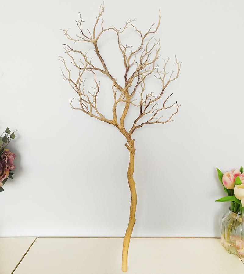 1 шт. искусственные черно-белые ветви деревьев пластик Коралл искусственные цветы для дома свадебные декоративные сушеные ветви деревьев H90CM - Цвет: Шоколад
