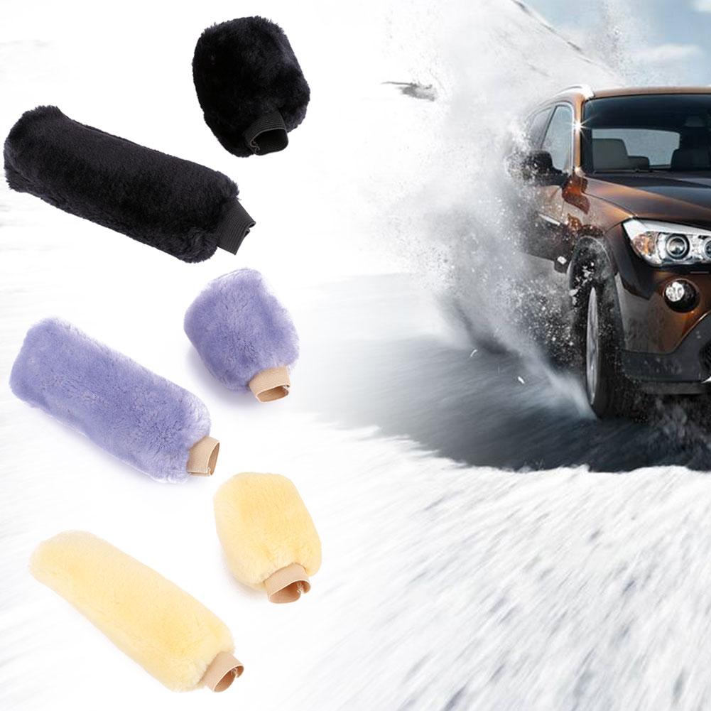 2PCS/Set Universal Car Auto Gear Shift Hand Brake Covers Plush Accessory