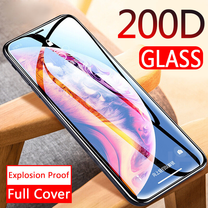 200D Curved Full Cover Protective Glass On The For IPhone 11 11 Pro X XS Max XR Tempered Screen Protector Film IPhone 11 Glass