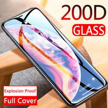 200D Curved Full COVER ป้องกันกระจก iPhone 11 11 Pro X XS MAX XR กระจกนิรภัยหน้าจอ Protector ฟิล์ม iPhone 11 แก้ว(China)
