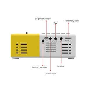 Image 3 - נייד J9 YG 300 מיני מקרן 1080P תמיכה 1080P AV USB SD כרטיס USB מיני בית מקרן מיני כיס מקרן