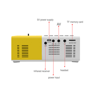 Image 3 - Taşınabilir J9 YG 300 Mini projektör 1080P desteği 1080P AV USB SD kart USB Mini ev projektör Mini cep beamer
