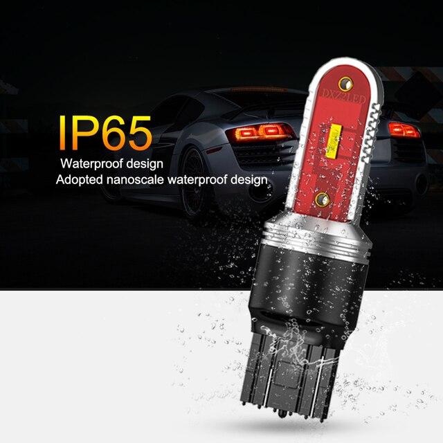 ANMINGPU 1x lampka sygnalizacyjna Led T20 W21W Canbus 7440 7443 W21/5W CSP 1860SMD T25 3157 Led P27/7W P27W 3156 DRL włącz światła sygnalizacyjne