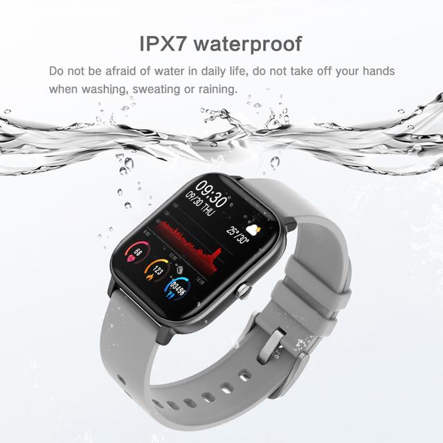 COLMI P8 1.4 inch Smart Watch Men Full Touch Fitness Tracker Blood Pressure Smart Clock Women GTS Smartwatch for Xiaomi