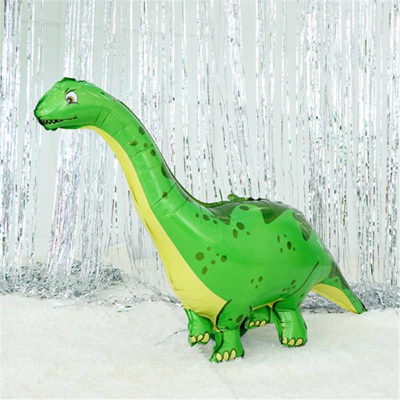 1 sztuk nowy dinozaur balon foliowy balony baby shower chłopiec dziewczyna zabawki nadmuchać balon z helem motyw zwierząt dekoracji dinozaur ballon