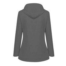 Women Trench Coat Solid Zipper Rain Jacket Outdoor Plus Waterproof Hooded Raincoat Windproof Winter Coat Women Trench Coats
