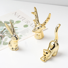 mini rabbit home living room porch desktop Ins creative ornaments ceramic crafts mini rabbit Nordic flamingo