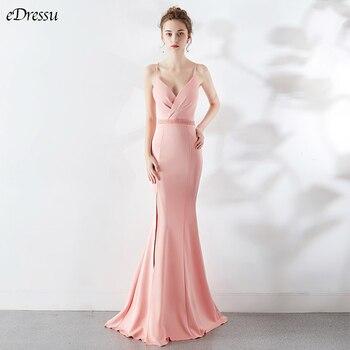 8 Colors Backless Evening Dress Cris-Cross Mermaid Party Dress Elegant Vestido de Fiesta Robe Beading Formal Long Dress YNY-1502
