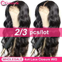 Gabrielle Hair 4x4 Lace Closure Wig Brazilian Body Wave Human Hair Wigs for Women 30 Inch Wholesale Wig Vendors Remy Hair