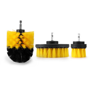 Image 2 - Electric Drill Brush Kit Plastic Round Cleaning Brush For Carpet Glass Car Tires Nylon Brushes Power Scrubber Drill