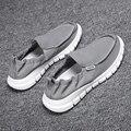 Повседневная обувь для мужчин удобные женские ботинки из PU искусственной кожи (ПУ мужские лоферы ручной работы дизайн обувь на плоской подо...