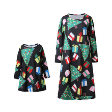 Christmas Family Pajama Sets Mom and Daughter Dress Long Sleeve Look Matching Clothes Sister Outfit