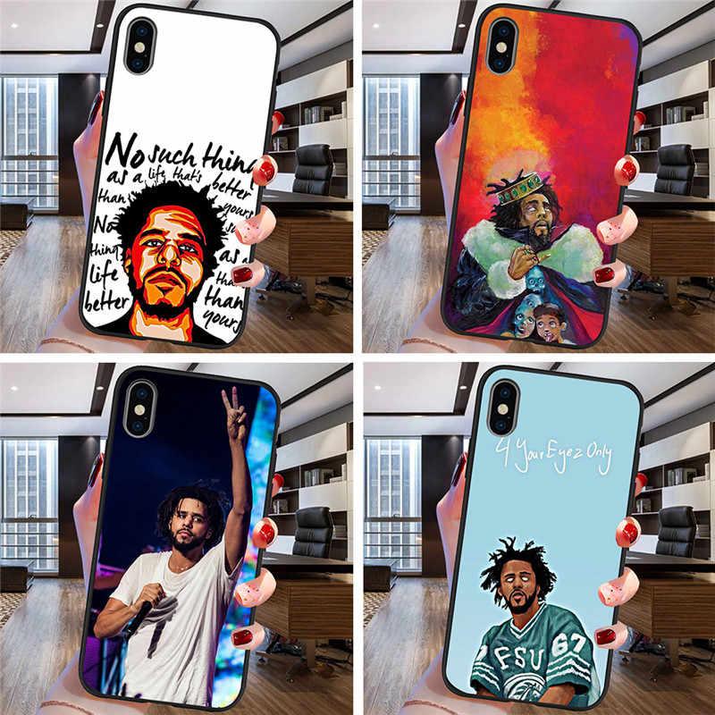 J COLE Hip hop For iPhone X XR XS Max 5 5S SE 6 6S 7 8 Plus Oneplus 5T Pro 6T phone Case Cover Funda Coque Etui funda shell capa