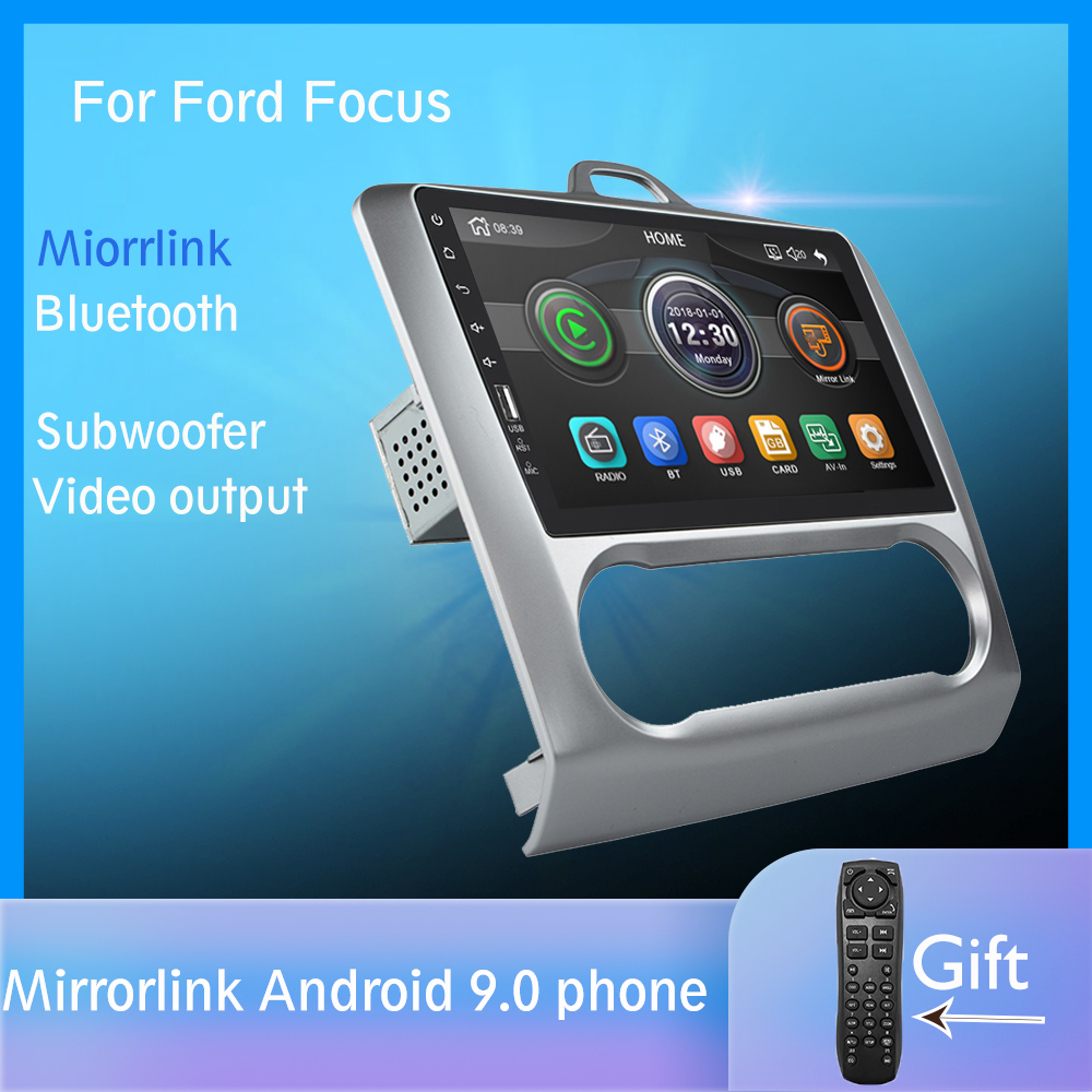 Car Radio Multimedia Player Touch Screen BT Mirror Link Android For Focus MT 2004 2005 2006-2008 2009 2010 2011 2 DIN Ford Radio