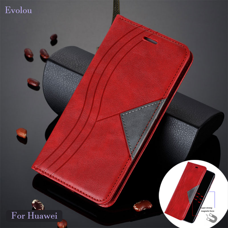 Magnetic <font><b>Flip</b></font> <font><b>Case</b></font> for huawei <font><b>Mate</b></font> <font><b>20</b></font> <font><b>lite</b></font> P30 Pro Y7 Y6 P Smart 2019 Retro <font><b>Flip</b></font> Book Leather Cover for honor 10i 20i 8A <font><b>Case</b></font> image