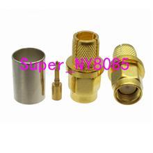1pce разъем SMA штекер обжимной RG5 RG6 5D-FB LMR300 прямой кабель
