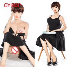 AYIREN 148cm Silicone Sex Dolls Real Doll Lifelike Korea Adult Japanese Life Big Breast Mini Vagina Anus Oral Sex Toys for Men(China)