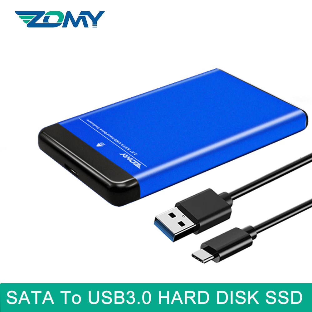 ZOMY SATA to USB 3 0 HDD 2TB Hard Disk Drives External High Speed Portable 1tB 2 5inch For Laptop DATA Storage with Case