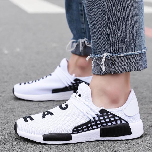 Zapatillas de deporte de moda para hombre, zapatos informales con cordones, transpirables, para caminar, talla grande, de verano 3