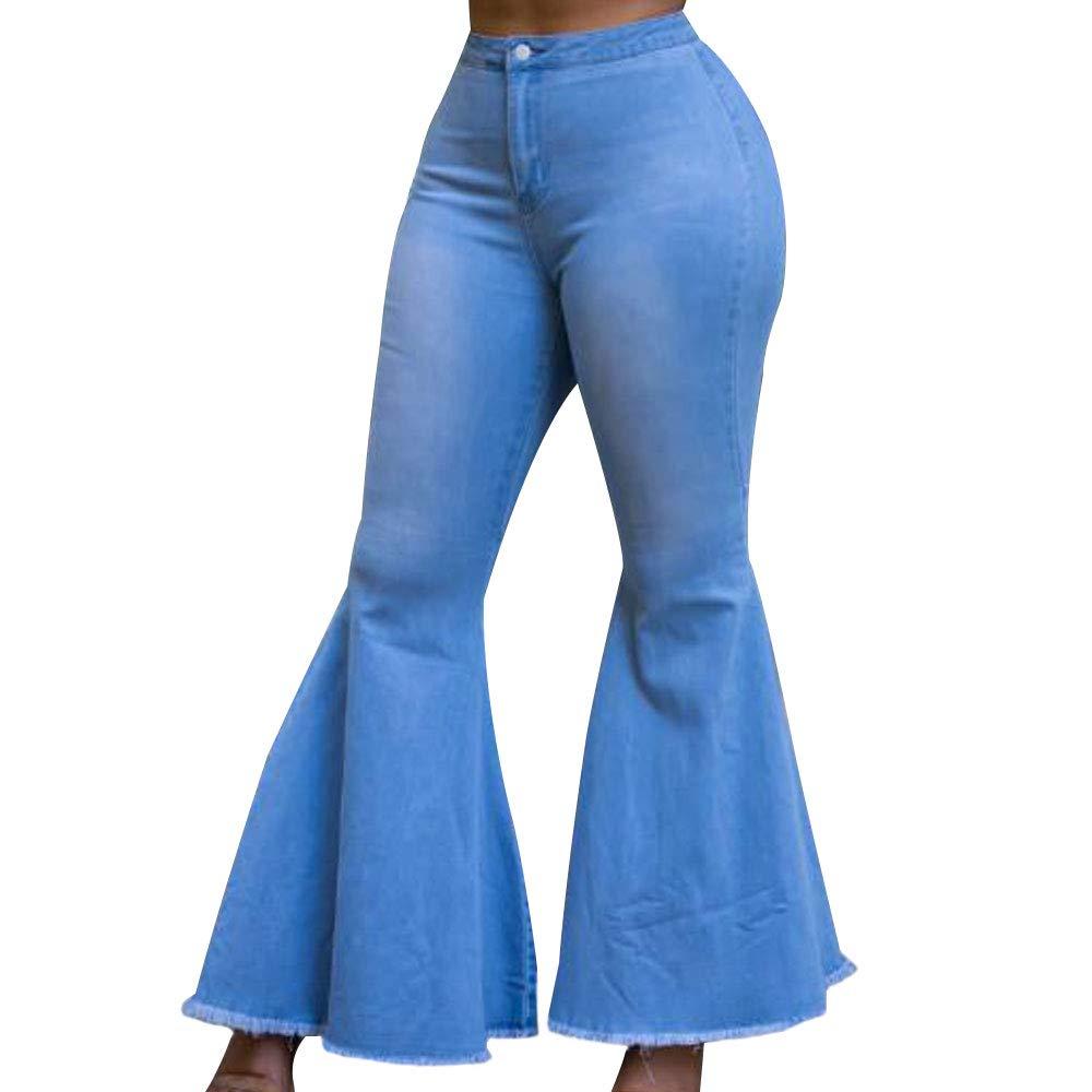 10 Pieces Women's High Waist Bootcut  Jeans Bell Flared Jeans Plus Size2019 Harem Pants  Cargo Pants