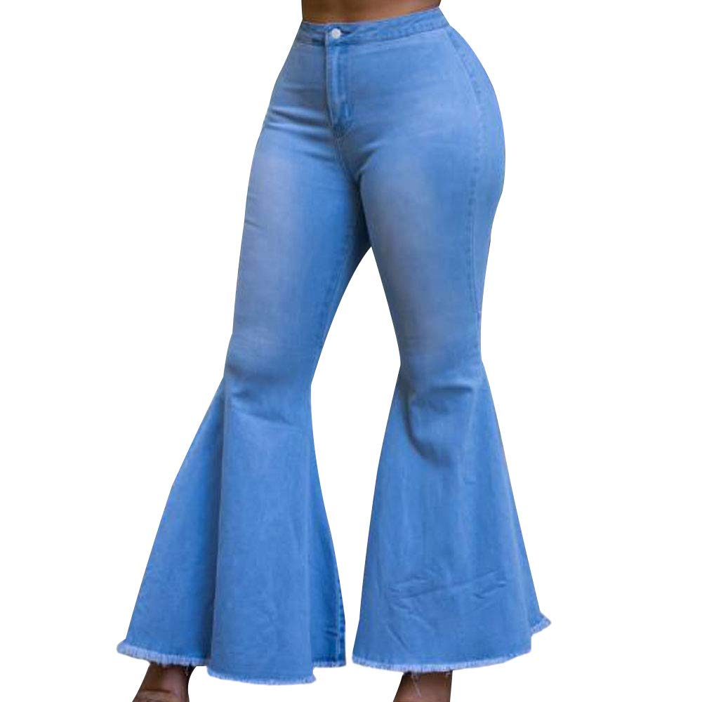 10 pieces Women's High Waist Bootcut Jeans Bell Flared Jeans Plus Size2019 Harem Pants Cargo Pants