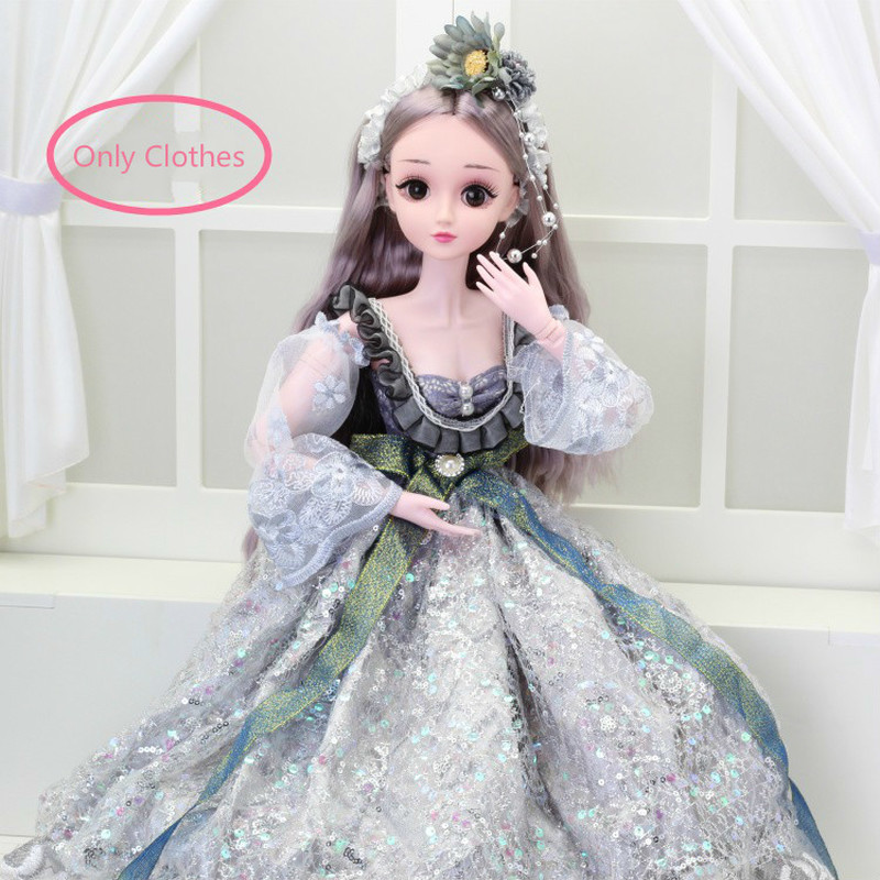 Beautiful Handmade 60cm <font><b>BJD</b></font> Doll <font><b>Clothes</b></font> Dress Wedding Dress for <font><b>1/3</b></font> Doll Accessories Girls Kids Toy Gifts image