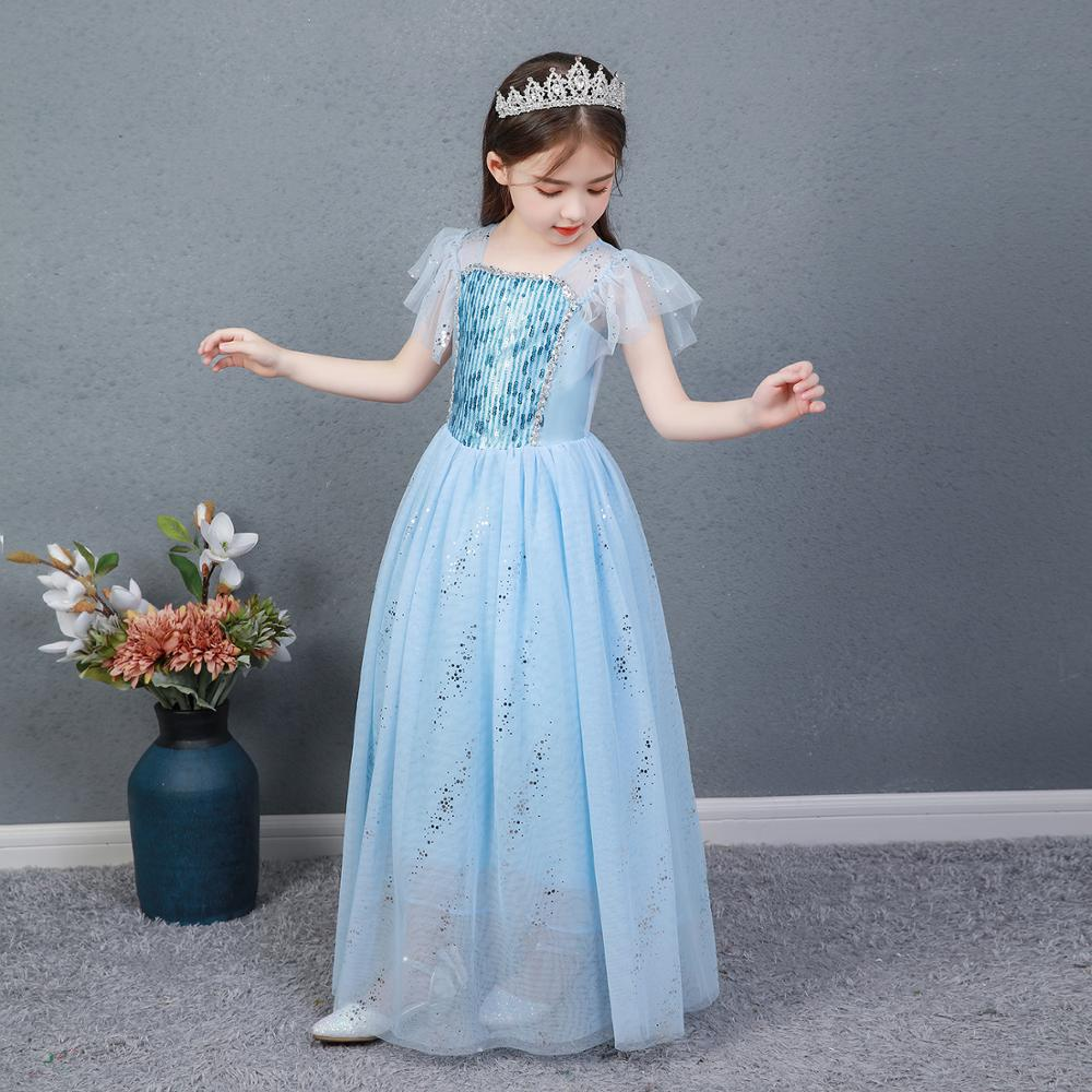 AngelGirl Elegant Girls Princess Dress Princess Theme Party Dresses Gown Xmas Cosplay Costumes for Birthday Halloween Chrismas 3