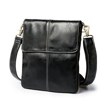 Messenger Bag Men's Leather shoulder bag for men leather fashion Flap Male Casual Crossbody Bags handbags недорого