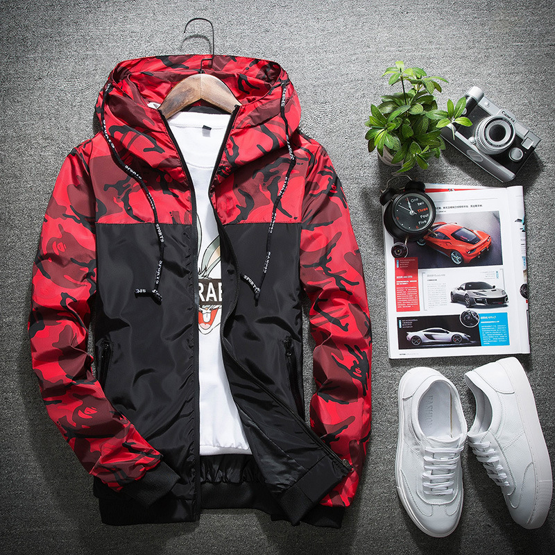 2019 Fashion New Men Assault Set Spring Autumn Casual Camouflage Stitching Color Hiking Jacket Korean Slim Coat Fishing Clothing