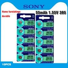 10 pçs/lote Sony 100% Original 395 SR927SW 399 SR927W AG7 LR927 1.55V Bateria de Relógio de Óxido De Prata Bateria de Relógio FEITO NO JAPÃO