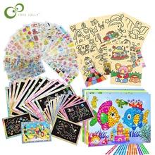 32 шт. детские игрушки для рисования набор нарисованная картина Картина из песка бриллиантовые наклейки развивающий учебный рисунок игрушки для детей GYH