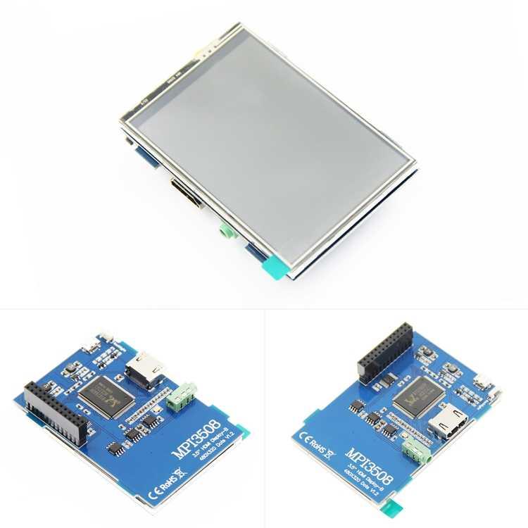 3.5 بوصة LCD HDMI شاشة لمس يو اس بي ريال HD 1920x1080 شاشة الكريستال السائل Py ل raspberry berri 3 نموذج B/Orange Pi (تلعب لعبة فيديو) MPI3508