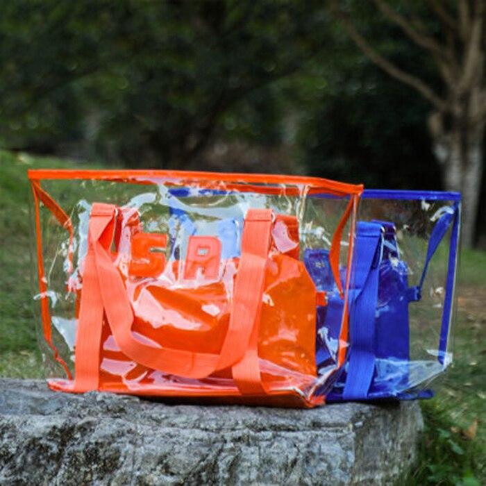 Pvc transparente saco grande capacidade impermeável sacola