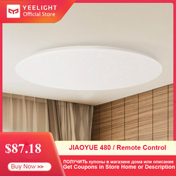 Lámpara moderna Yeelight JIAOYUE 480, lámpara de techo LED inteligente con Control remoto, Plafonnier LED, soporte de iluminación interior, aplicación Mijia