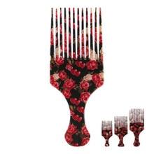 Nova beleza menina afro pente escova de cabelo encaracolado salão cabeleireiro estilo longo dente estilo picareta transporte da gota profissional