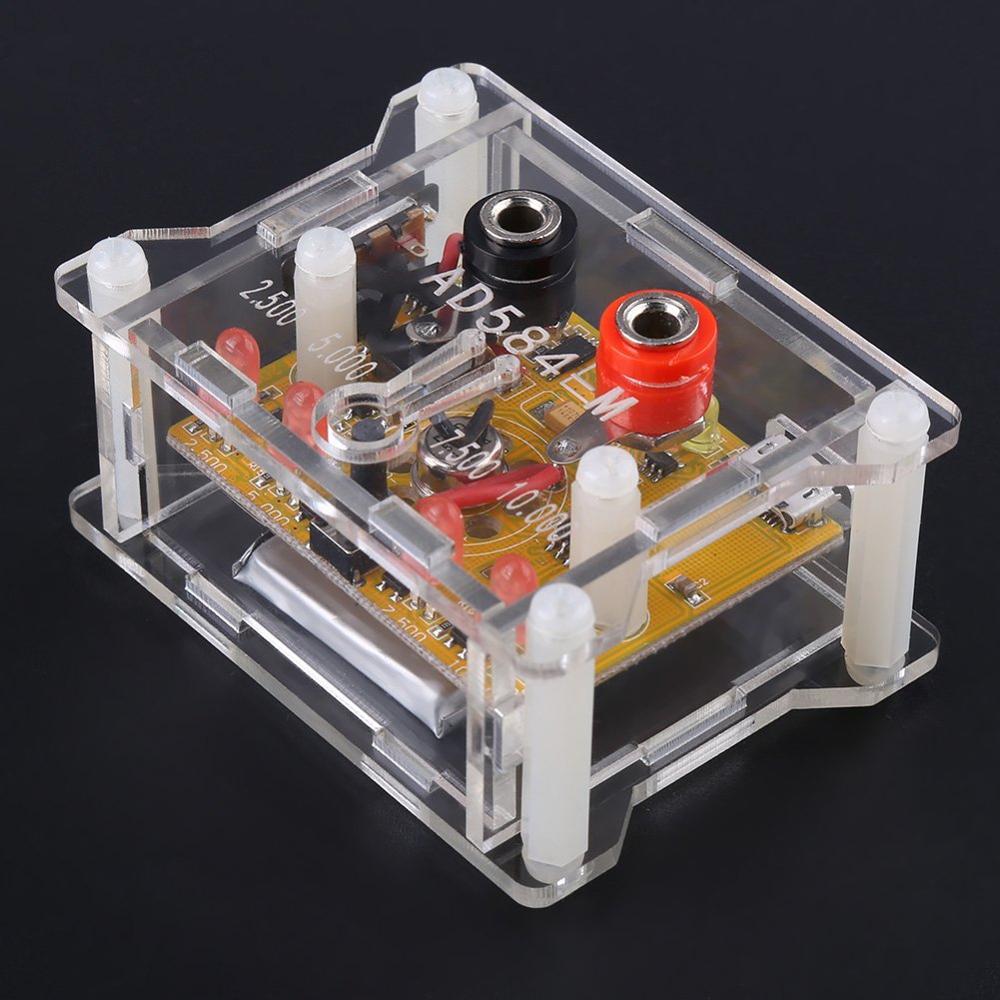 Hot Sale AD584 4 Channel 2.5V/7.5V/5V/10V High Precision Voltage Reference Module With Transparent Housing