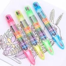 Креативные мелки для рисования, мягкие, сухие, пастельные, 20 цветов, художественные мелки для рисования, детский цветной карандаш, кисточка, канцелярские принадлежности для студентов