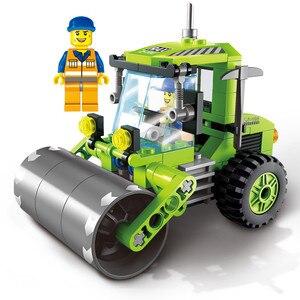 4 типа, модель уборочной машины для города, строительные блоки, набор игрушек, сделай сам, развивающие подарки на день рождения для детей
