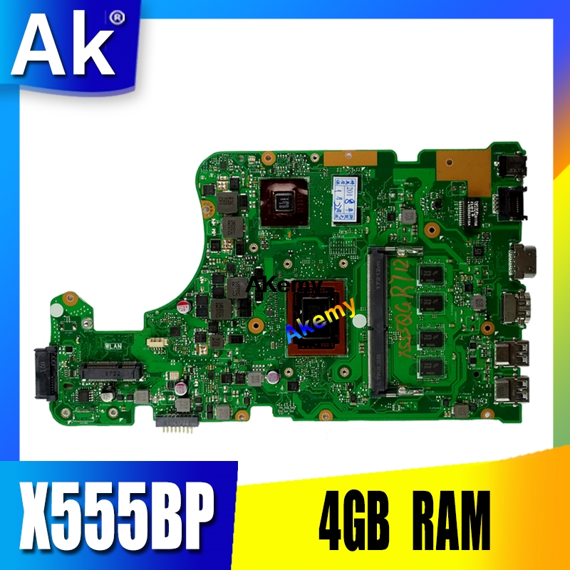 X555BP Motherboard For Asus X555B X555BP X555QG Laptop Motherboard A9-9420P CPU 4GB RAM R5 Graphics