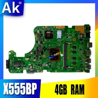 X555BP motherboard For Asus X555B X555BP X555QG laptop motherboard A9 9420P CPU 4GB RAM R5 Graphics
