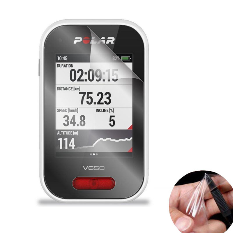 3pcs PET Clear Protective Film Guard For Polar V650 GPS <font><b>Bike</b></font> Cycling <font><b>Computer</b></font> Bycicle Riding Sport Screen Protector Full Cover image