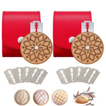 2 paczki UFO okrągły chleb Lame ciasto punktacji narzędzia kwasik nóż do chleba Cutter chleb narzędzia do rękodzieła do wypiek chleba akcesoria tanie i dobre opinie KCHARM CN (pochodzenie) Siekacze do ciasta Ekologiczne Na stanie SKC0141721 Metal Narzędzia do pieczenia i cukiernicze