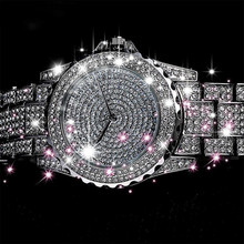 Women Quartz Watch Fashion Bling Casual Ladies Female Gold Crystal Diamond For Clock