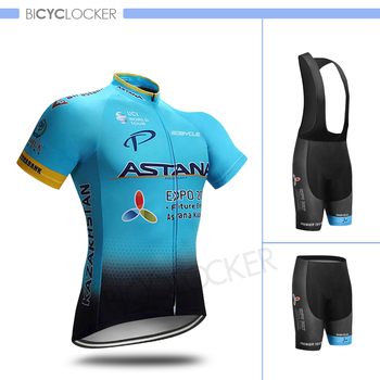 цена на ASTANA Cycling Clothing Men Team Cycle Jersey Sets Uniform Bicycle Ropa Ciclismo Maillot Road Bike Short Sleeve Shirts Quick Dry