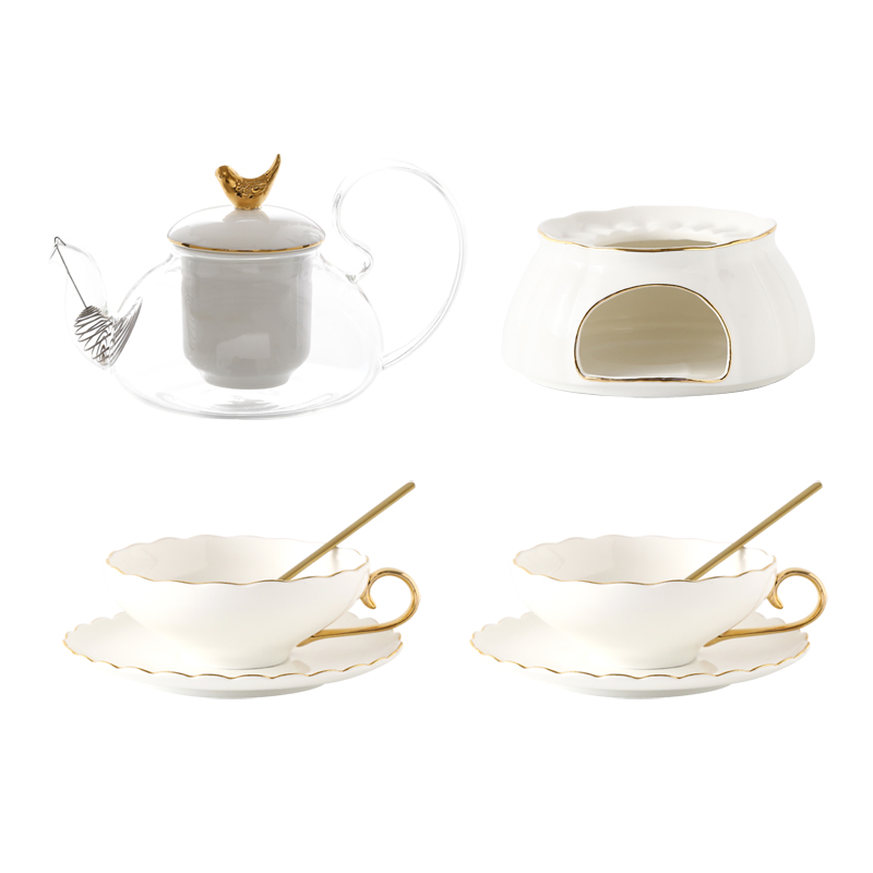 Bone China Ceramics Tea <font><b>Coffee</b></font> <font><b>Cup</b></font> <font><b>Set</b></font> Luxury Glass Reuseable <font><b>Cup</b></font> Espresso <font><b>Set</b></font> Porcelain Tazas Originales <font><b>Cups</b></font> Plate EA60BD image
