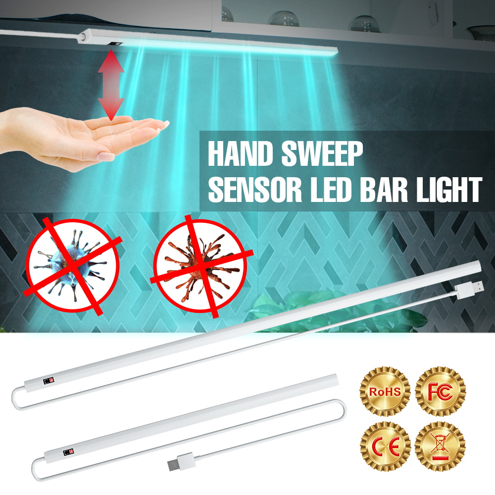 Antibacterial UV Germicidal Light LED Smart Sensor Sterilizer Ultraviolet Light 5V UVC Disinfection Lamp Tube For Closet Cabinet