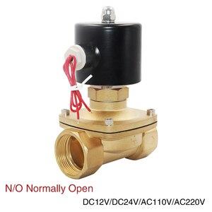 """Image 1 - 1/4 """"3/8"""" 1/2 """"3/4"""" 1 """"Valvola Solenoide elettrico DN08 DN10 DN15 DN20 DN25 normalmente aperto olio di Acqua pneumatico Aria 12V/24V/110V/220V"""