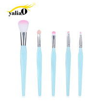 YALIAO 5pcs Makeup Brush Set Foundation Powder Blush Cosmetic Eye Shadow Blending Beauty Brushes Tools For