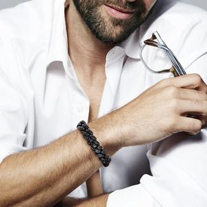 Image 5 - Cdyle pulseira masculina preta zircônia, corrente masculina, punk, hip hop, 18cm, marca superior/20.5cm/22cm